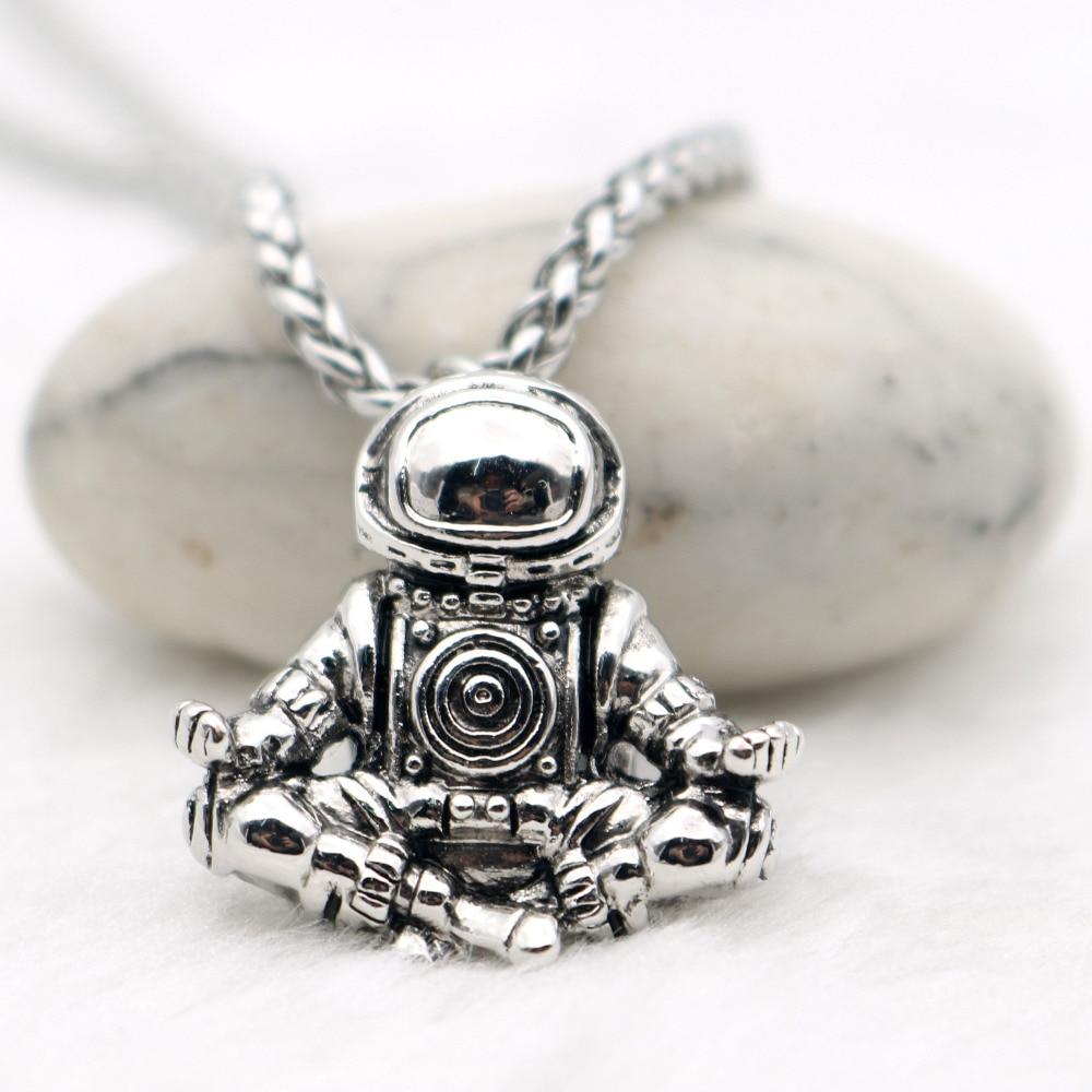 Astronaut Pendant Necklace Meditation Ga