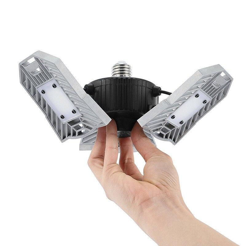 Déformation 60 W UFO lampe à LED angle réglable E27 lumière LED haute baie Radar détection 110-240 V lumière LED