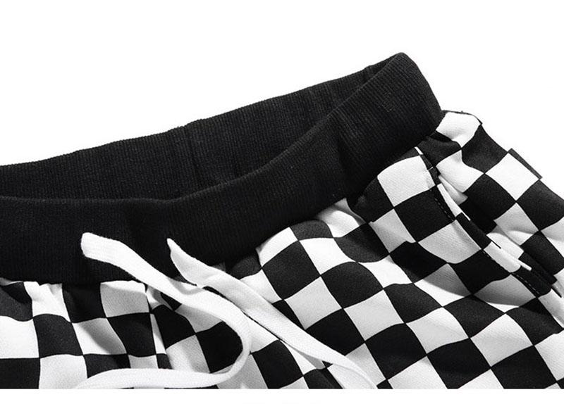 Aolamegs Pants Men Plaid Checkerboard Pants Fleece Thick Trousers Pants Mens Tactical Elastic Waist Fashion Joggers Sweatpants (6)