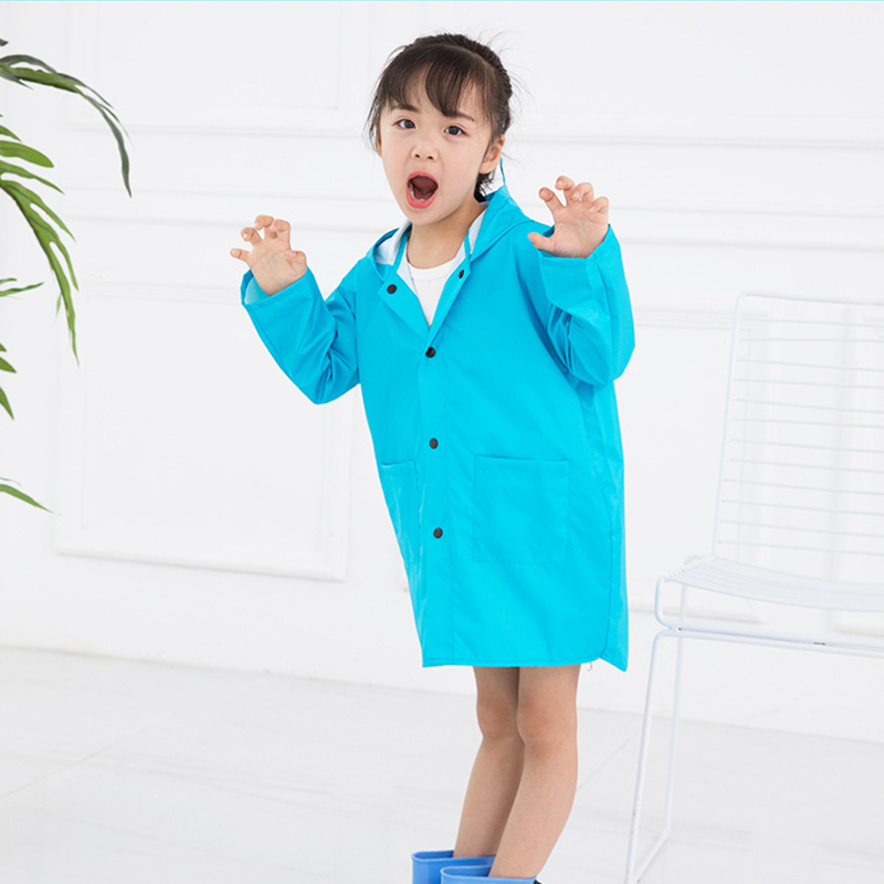 Windproof Rain Poncho For Kids Lightweight Waterproof Rain Gear Children Kindergarten Baby Rianwear For 2-6 Years Child