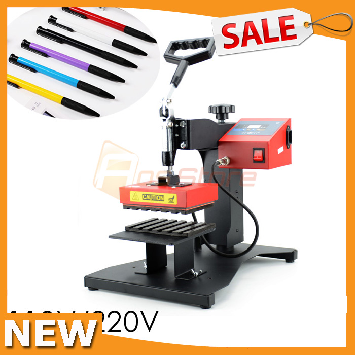 US $146 99 |NEW 110V/220V Ballpoint Pen Press Machine Pen Heat Transfer  Printing 6 Pens at one Print DIY Machine-in Tool Parts from Tools on