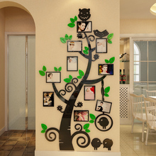 Acrylic 3D self-adhesive wall sticker Sofa TV background decoration painting Photo frame tree Bedroom child wallpaper