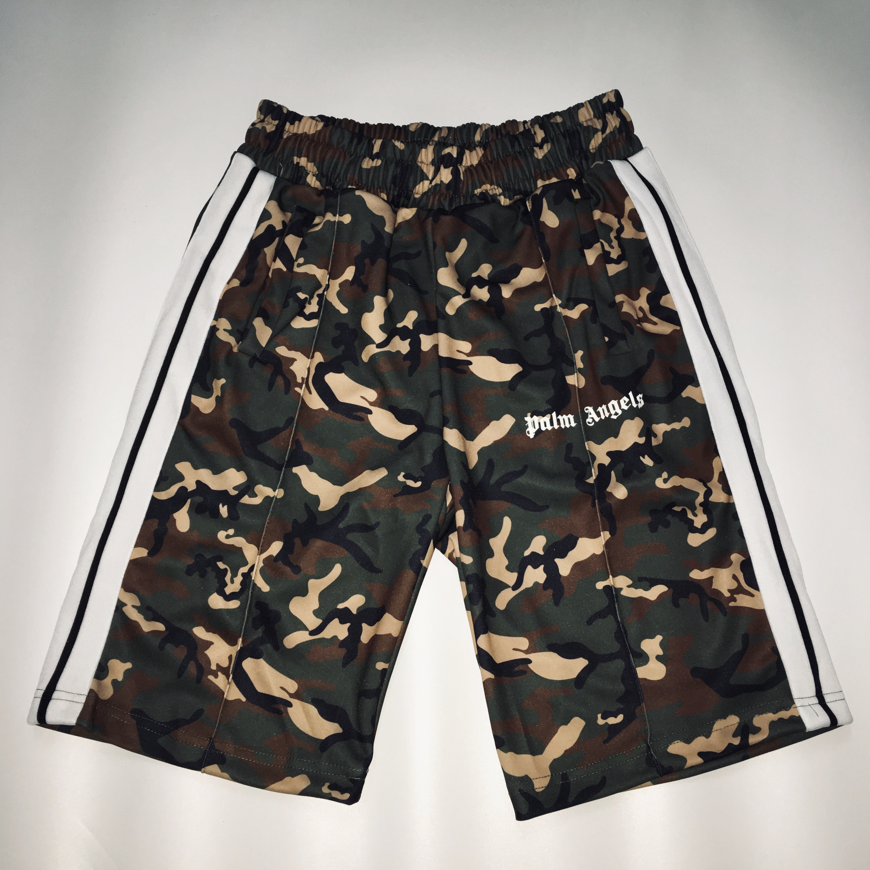 19ss Palm Angels Men Shorts Kanye West Camouflage Women Men Sports High Quality Fog Hawaii Track Gym Palm Angels Vetements
