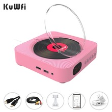 KUWFI Wall Mountable DVD Player Portable with HDMI Full-HD Output for TV,AV Pink Play Anywhere