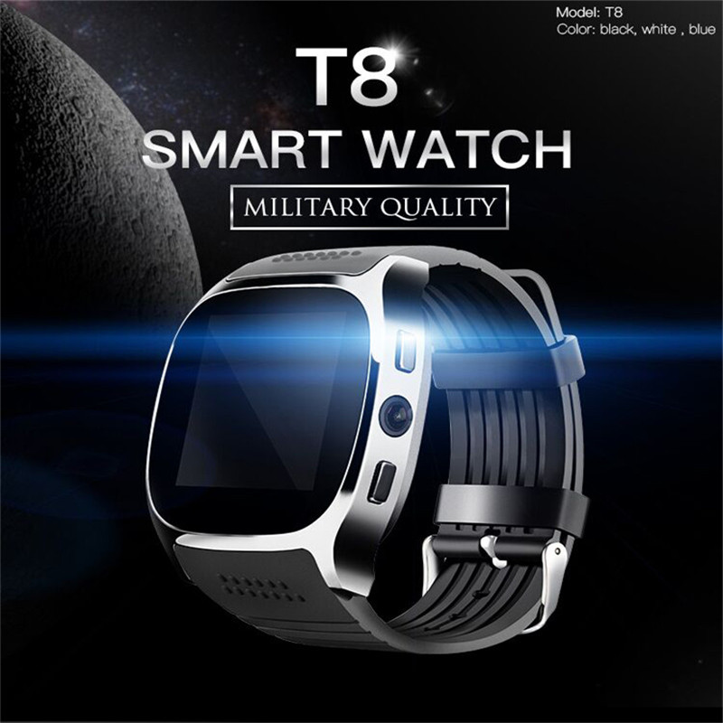 Fashion Multifunction Bluetooth Touch Screen Smart Watch Sleep Monitor Multi Language Camera Sports Watch for Android