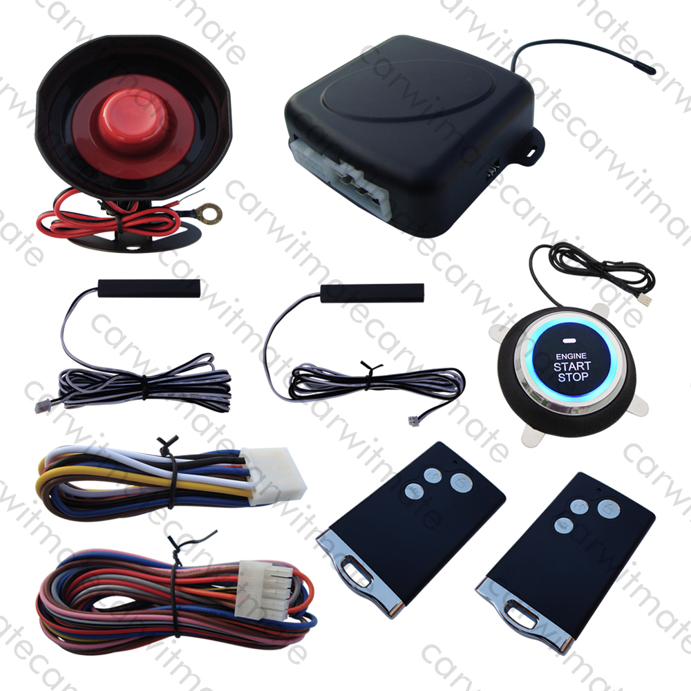 New PKE Car Alarm System Passive Keyless Entry Remote Engine Start Push Start Car Auto Arm Disarm Many Hopping Code With Siren kowell hopping code pke car alarm system w passive keyless entry remote engine start stop push button power ignition switch