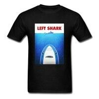 Short Sleeve Clothes Left Shark Parody - Jaws - Funny Movie Meme Humor Men Clothes Plus Size Boys Pop Fun Shirts