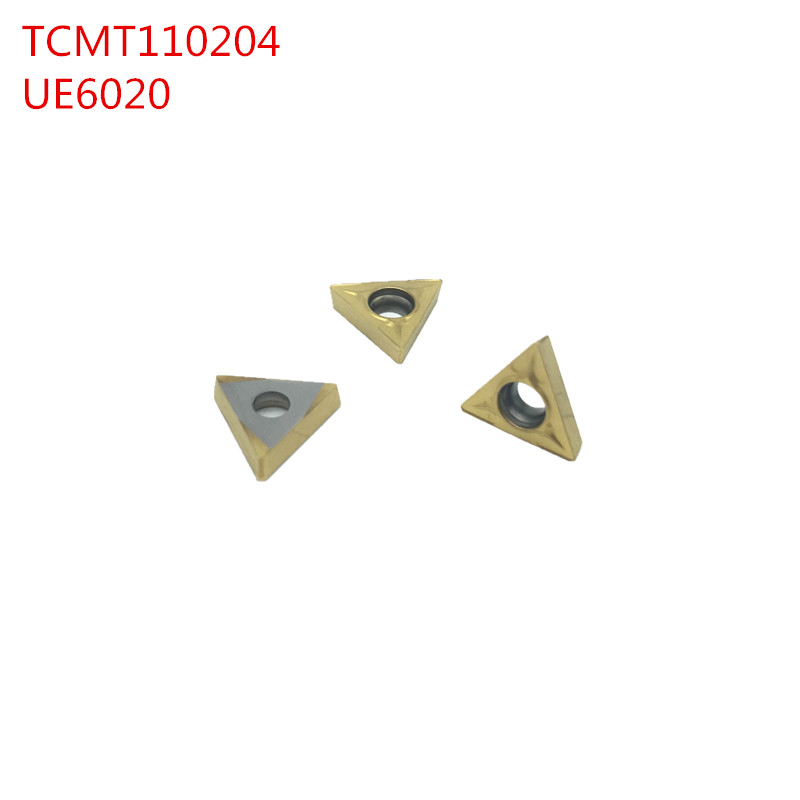 50pcs TCMT110204 UE6020 Internal Turning Tools Carbide inserts Cutting Tool CNC Tools Lathe tools <font><b>TCMT</b></font> <font><b>110204</b></font> Lathe cutter image