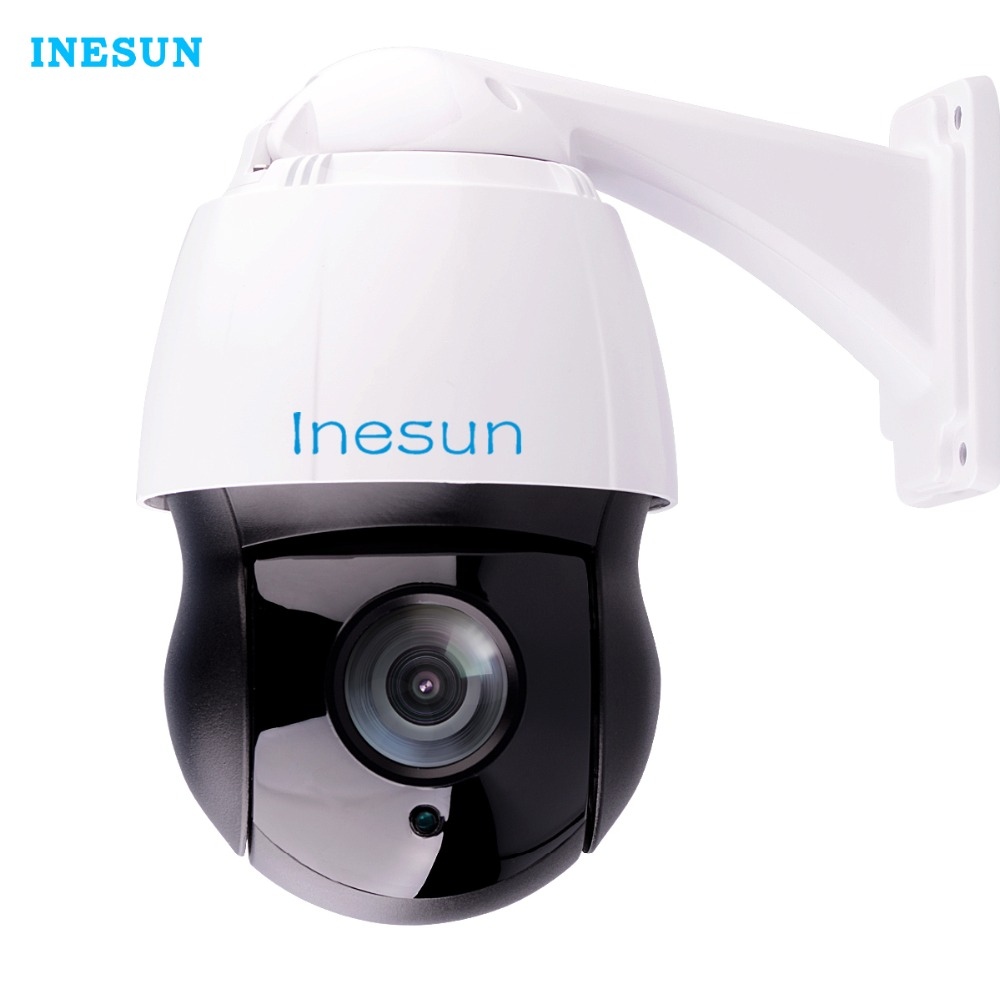 Inesun H.265 Outdoor PTZ IP Camera 2MP HD 1080P Pan Tilt 30X Optical Zoom High Speed Dome Cam With 120m Laser IR Night Vision ...