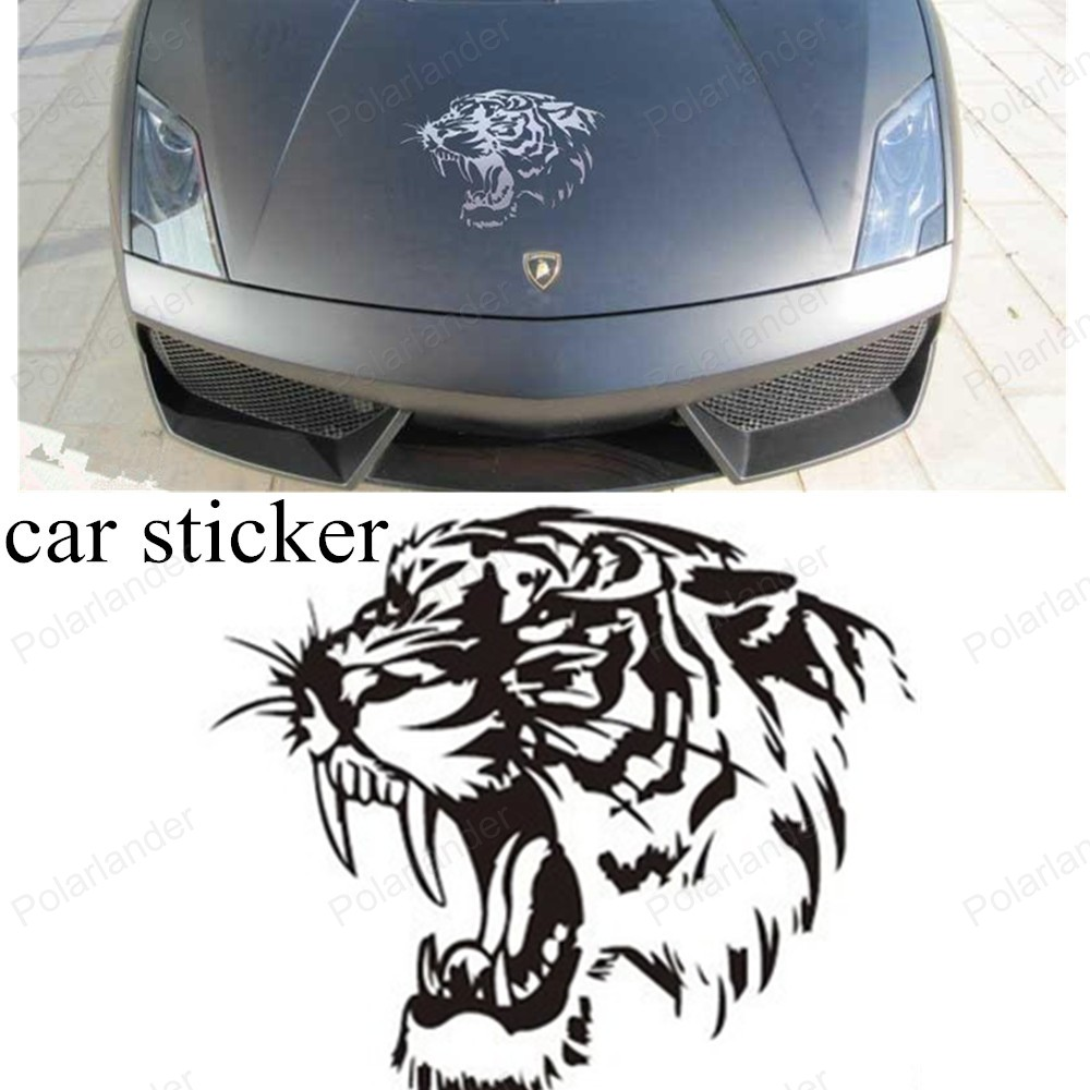 Cool car sticker design - Aliexpress Com Buy Big Sale 28 28cm Car Stickers Black And White Cool Reflective Car Sticker Decals Tiger Head Hood Of Car And Motorcycle Side From