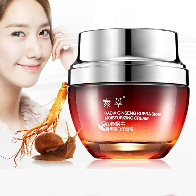 Radix Ginseng Snail Essence Cream Brand Face Care Day Night Cream Face Treatment Remove Scars Acne Whitening Moisturizing Cream