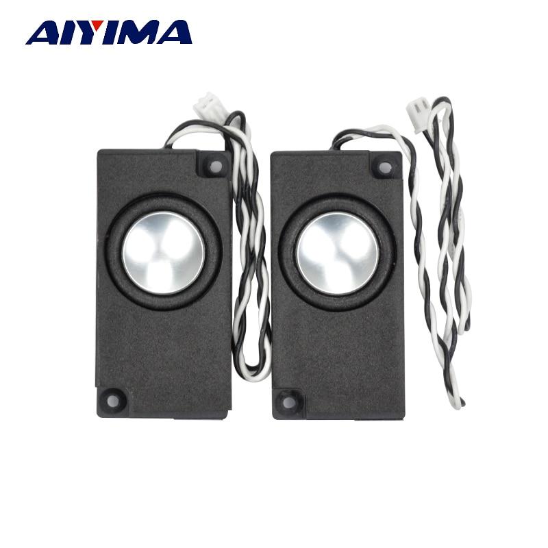 AIYIMA 2Pcs Mini Audio Portable TV Speakers 4/8Ohm Full Range Computer Speaker Horn For Laptop TV Speaker jtron practical diy 25 x 15mm mini speaker 1w 8ohm for laptop notebook