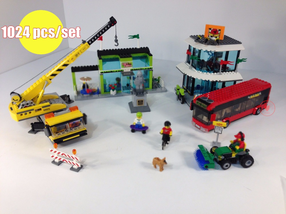 New City series Town Square center fit Legoing city figures technic Building Blocks Bricks 60026 diy Toys Children gifts kid