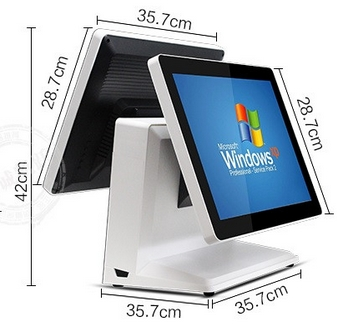 15 Inch Touch Screen Dual Screen POS/All In One  Retail Shop Payment POS System Terminal