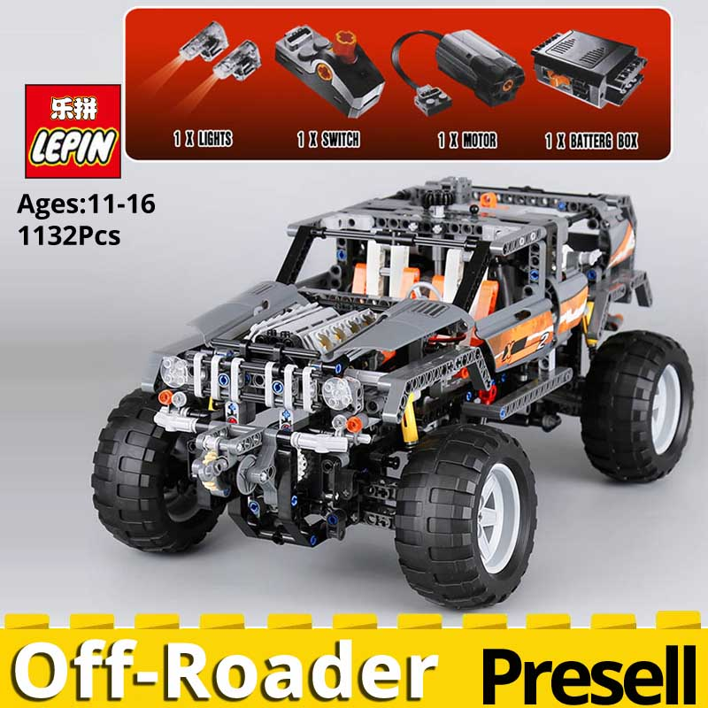 Lepin Technic Ultimate Series 20030 The Off Roader Model set Educational Building Blocks Bricks Toys for Children legoingly 8297 20030 technic ultimate series the off roader set children building blocks brick toy model gifts competible with legoingly 8297