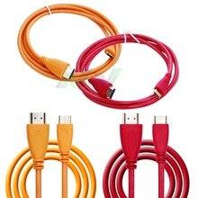 1pcs 1.5m copper core HD video cable HDMI A/C OD:5.0 1.4v red/orange