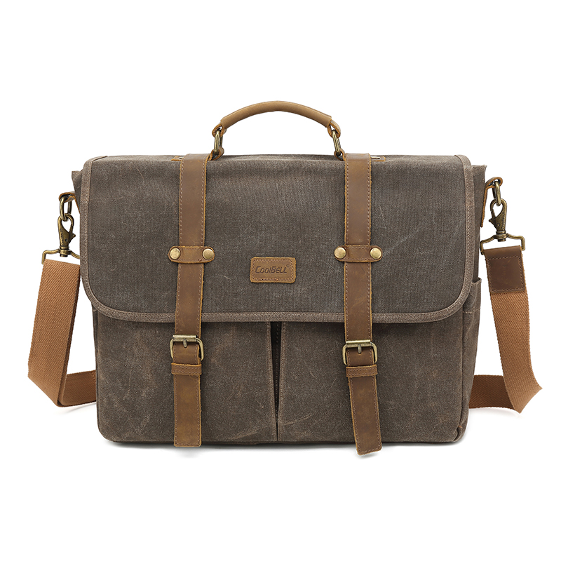 New mens Messenger bag canvas shoulder bag retro postman business bag for 15 15.6 inch laptop briefcase oil wax cloth 5115New mens Messenger bag canvas shoulder bag retro postman business bag for 15 15.6 inch laptop briefcase oil wax cloth 5115
