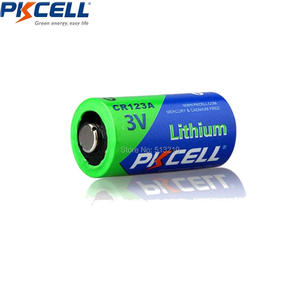 Image 2 - PKCELL 10X3V CR123A bateria 1500mAh CR123 123A CR17345 KL23a VL123A DL123A 5018LC EL123AP SF123 nie akumulator litowy wielokrotnego ładowania