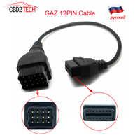 Câble de Diagnostic de voiture pour Nissan 14pin GAZ 12PIN VAZ OBD2 adaptateur G M 12PIN Mitsubishi 12pin avec adaptateur secteur pour VOLVO 8PIN