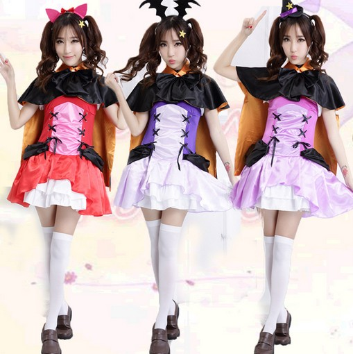 Love Live Nico Yazawa Nozomi Tojo Maki Nishikino Witch Cosplay Costumes Little Devil Vampire Dress Halloween Party Costume