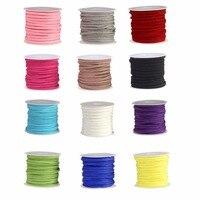 12 Rolls Colori Differenti 3mm Faux Leather Suede Borda Cords 87-41