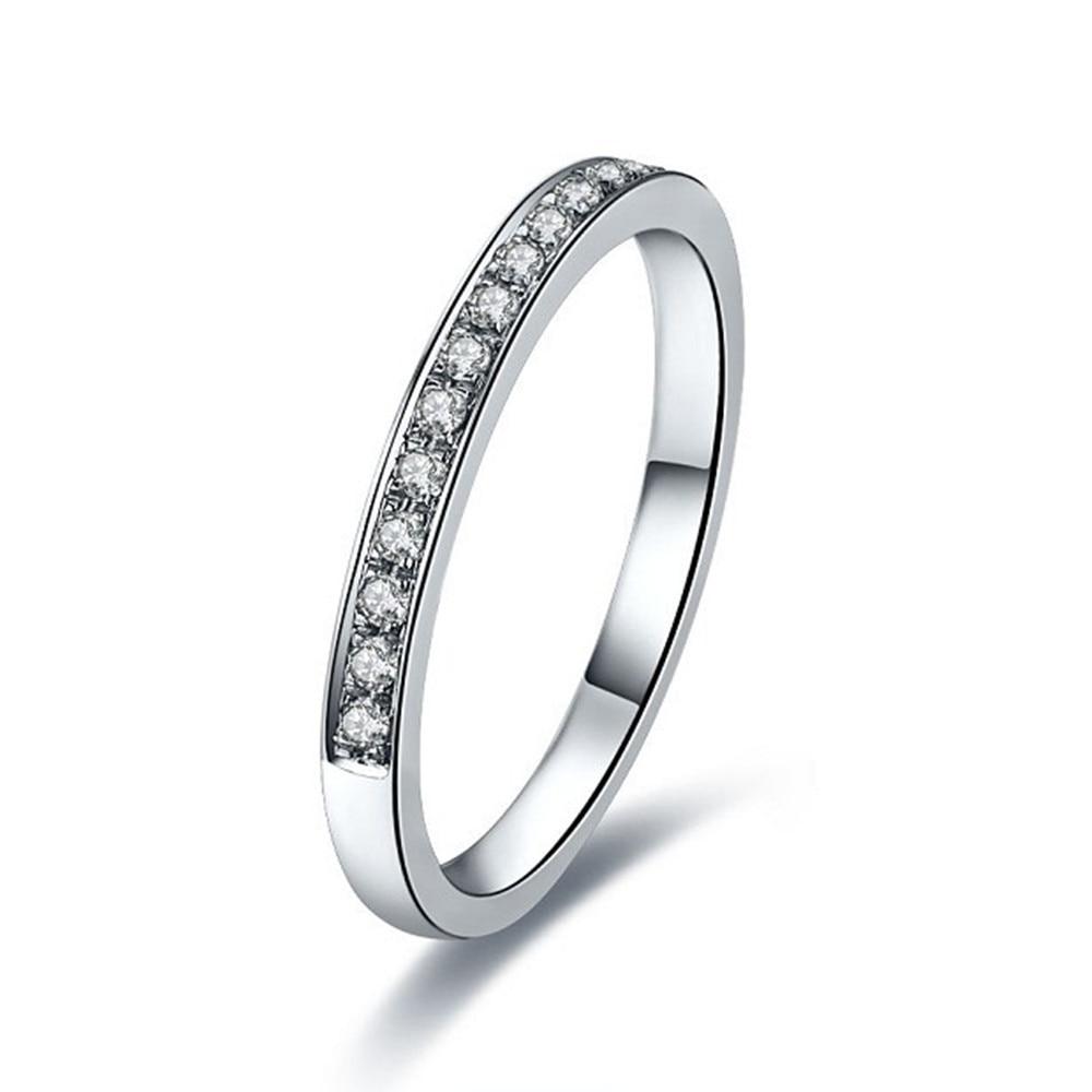 Elegant 18k 750 White Gold Engagement Ring Beauty Wedding Bands Au750  Jewelry Gold Jewelry Quality Guarantee