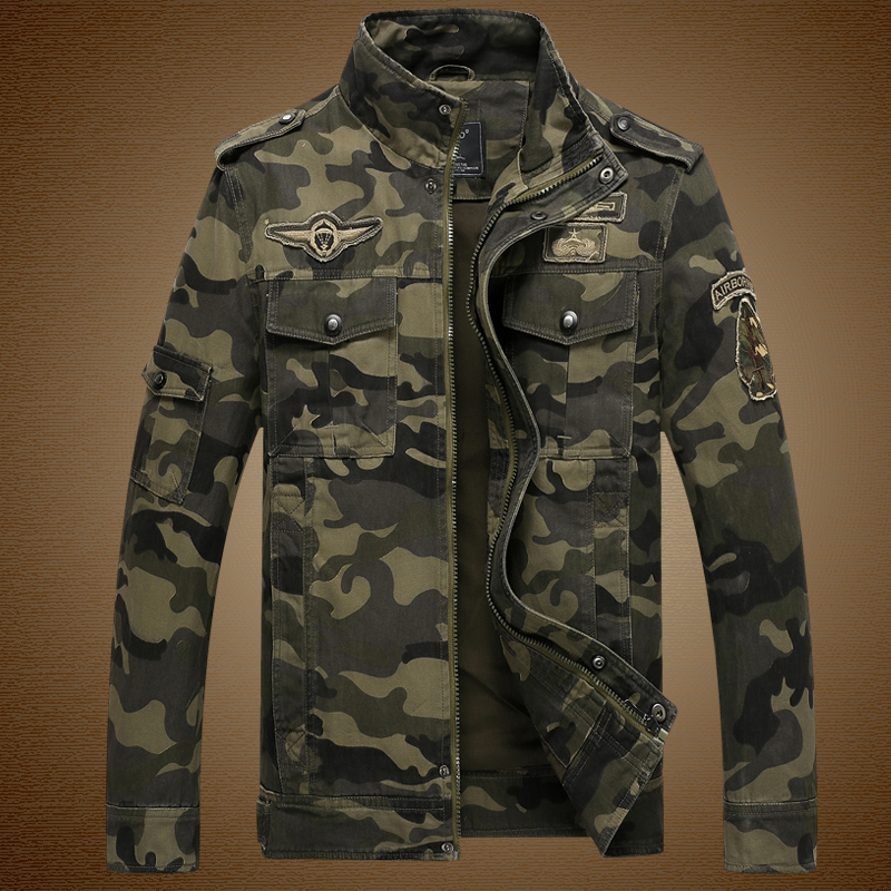 2017 Mens Camouflage Jacket Super Quality Military 100% Cotton Winter Camo Troops Jacket Bomber Army Military Veste Chaqueta