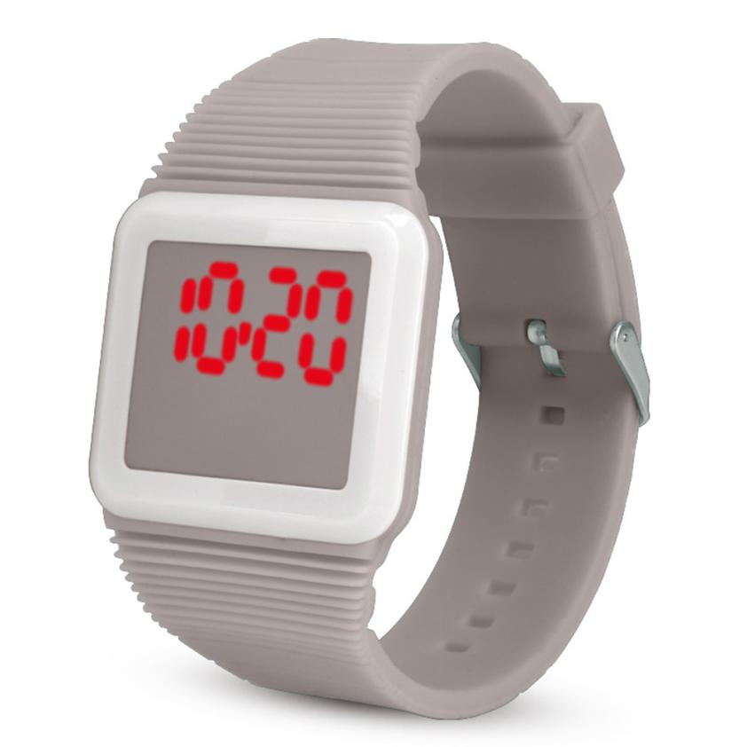 Watches Hot Sale Children Watch Mens Womens Silicone Led Watch Sports Bracelet Digital Square Wrist Watch Gifts For Children Kol Saati