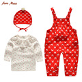 2016 baby clothing set baby girl fashionable rabbit clothes baby strawberry top hat pants 3 pcs set cute outfits for 3-24M baby