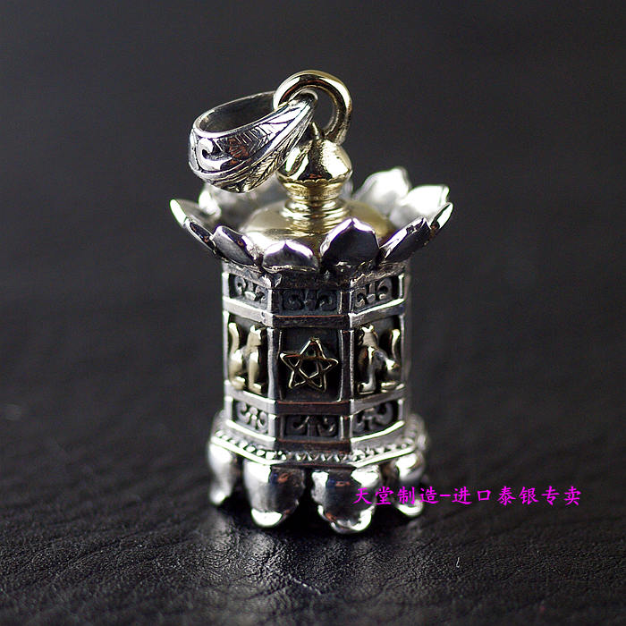 Thailand imports, genuine OV new 925 Sterling Silver Pendant lamp thailand imports skull blood new skeleton silver ring