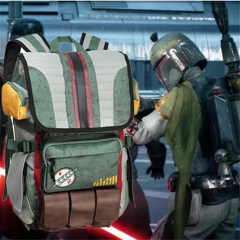 Movies Star Wars Backpack Boba Fett Mandalorian Armor Backpack Student School Bag Casual Travel Backpack