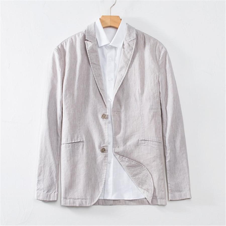 ลำลองฝ้ายผู้ชาย Blazer ฤดูร้อนบุรุษชุด Slim Fit Blazer Hombre เดียว Breasted Masculino Xl5085-ใน เสื้อเบลเซอร์ จาก เสื้อผ้าผู้ชาย บน   3