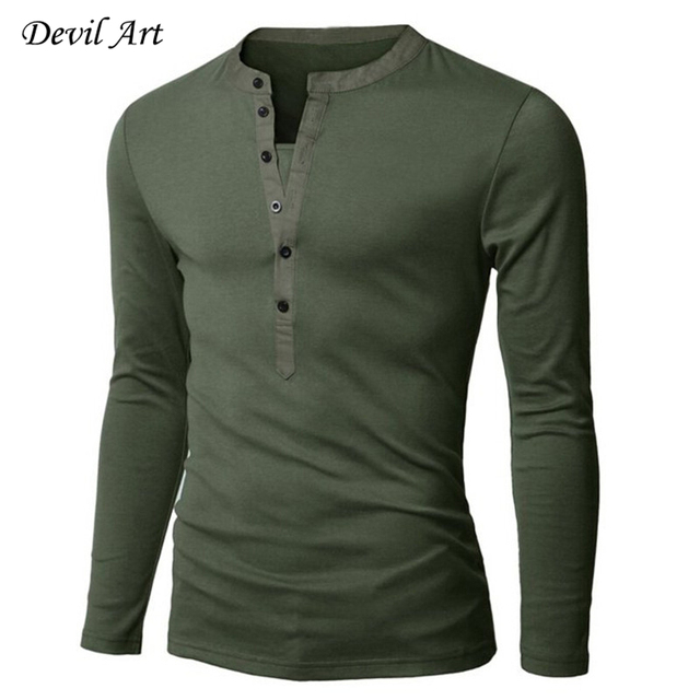 New 2017 Mens Long-sleeved Polos Access Mixed Colors Fashion Casual Slim Fit tees Free Shipping 6 colors size:M-XXL y11