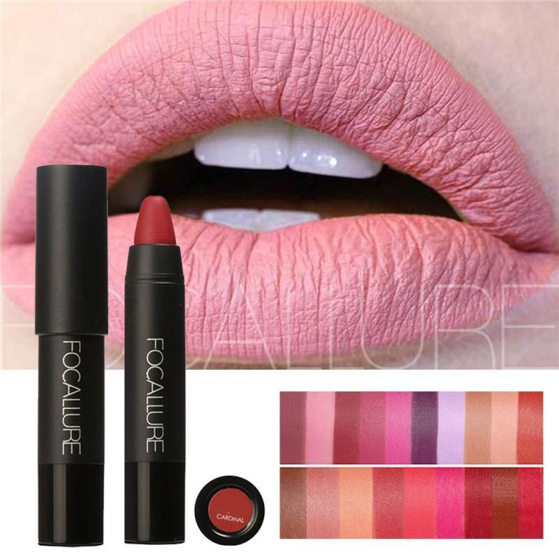 FOCALLURE Matte Lipstick Pen Waterproof Long Lasting 19-color Lip Makeup Moisturizing Lasting Non-marking Matt Lipstick Z3 1