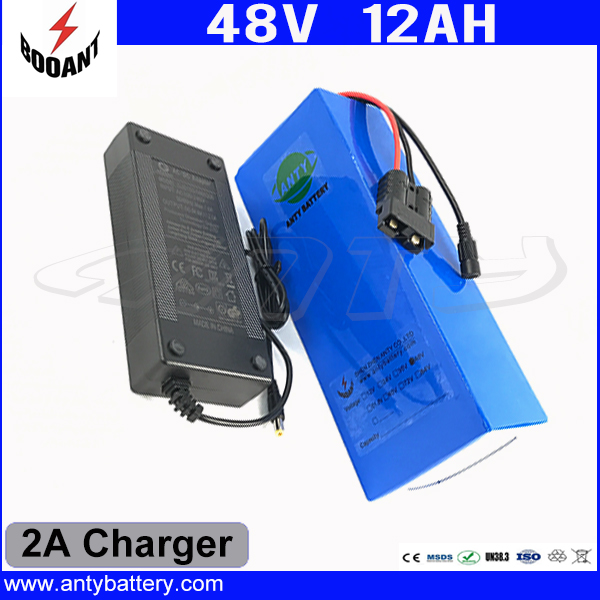 Rechargeable Lithium Battery 48V 12Ah Li-ion Battery 48V For 1000W Bafang Motor With 2A Charger eBike Battery 48V Free Shipping free customs taxes rechargeable lithium battery 48v 12ah lithium ion battery 48v 12ah li ion battery pack 2a charger 20a bms