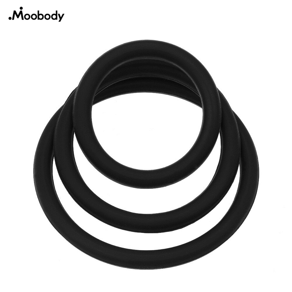 3Pcs Silicone Male Cockring O-Shape PenisRing Prolong Premature Ejaculation Time Delay Cock Lock Sex RingToys Products for Men3Pcs Silicone Male Cockring O-Shape PenisRing Prolong Premature Ejaculation Time Delay Cock Lock Sex RingToys Products for Men