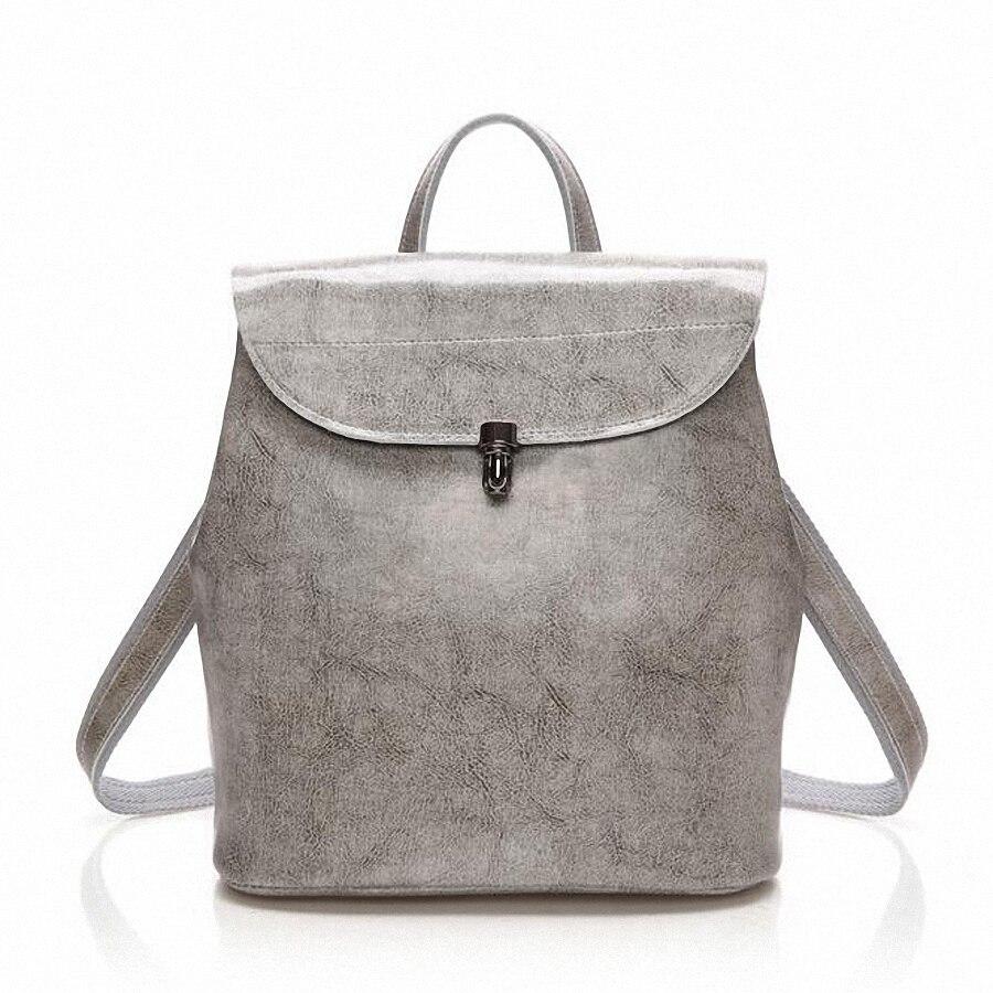 ФОТО Fashion Genuine Leather Backpack Women Bags Preppy Style Backpack Girls School Bags Zipper Shoulder Women's Back Pack LI-1668