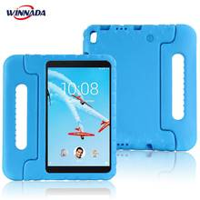 Case for Lenovo TAB 4 8 Plus TB-8704F/N hand-held full body Children Non-toxic Safe EVA Handle stand case for kids tablet cover light weight kids case super protection cover handle stand case for kids children for samsung galaxy tab a 7 inch tablet