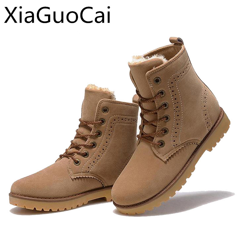 Woman Snow Boots Brand Luxury Winter Shoes Waterproof Leather Fashion Ankle Boots for Women Unisex Martin Boots