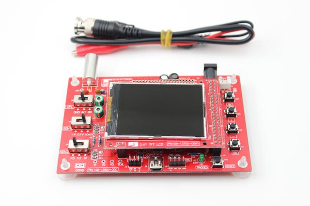 """DSO138 2.4 """"TFT 1 Msps Digital Oscilloscope Kit com peças DIY + Sonda"""