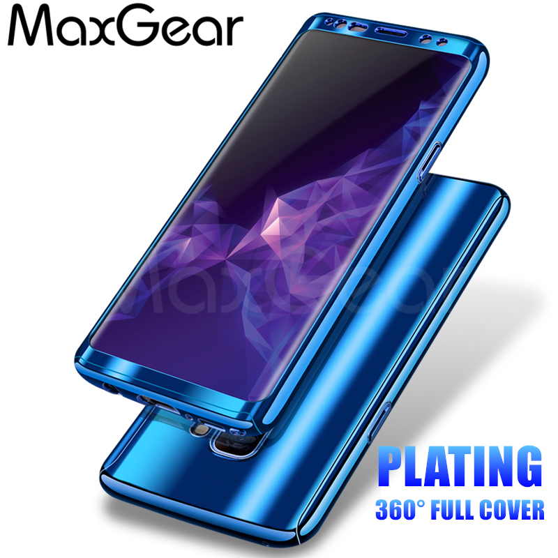 MaxGear 360 Degree Shockproof Cases For Samsung Galaxy S8 S9 Plus Phone Case For Samsung S7 S7 Edge Plating Mirror...  samsung s7 case   Top 5 Best Samsung Galaxy S7 Cases MaxGear 360 Degree Shockproof font b Cases b font For font b Samsung b font Galaxy