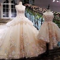 שמלת הערב ארוך תחרת פרחי vestidos דה festa לונגו LS00139 לראות דרך חזרה כדור שמלת שמלת בת photos2018 אמיתי