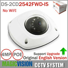 HIK english version DS-2CD2542FWD-IS Audio 4MP WDR Mini Dome Network Camera H.264+, non wifi, P2P mini ip camera