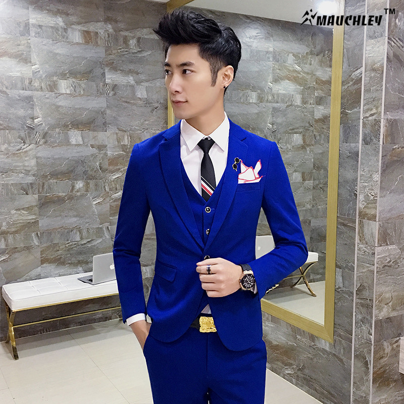 2017 Unique Mens Blazers Designs Korea Candy Solid Color Jacket Blazer Masculino Slim Fit Prom Dress Boys S 4XL Plus Size Blaser in Blazers from Men 39 s Clothing