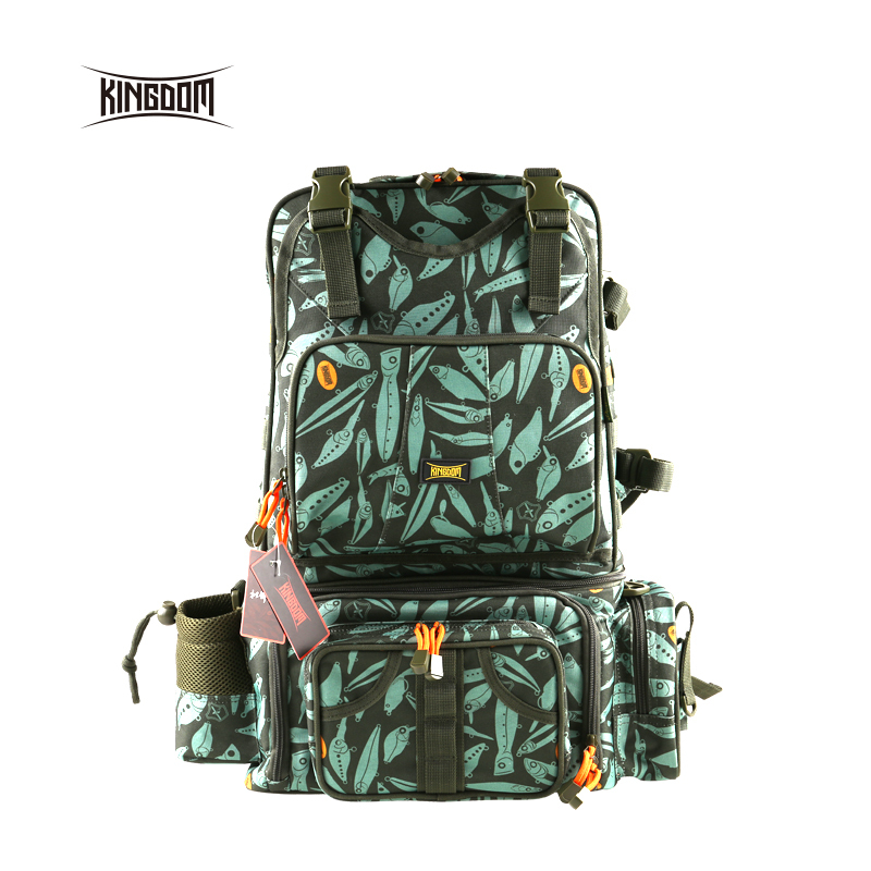 Kingdom fishing Waterproof Fishing Bag Multifunctional Large Size One bag can be used as three Outdoor Adjustable Sided lyb-14 цена и фото