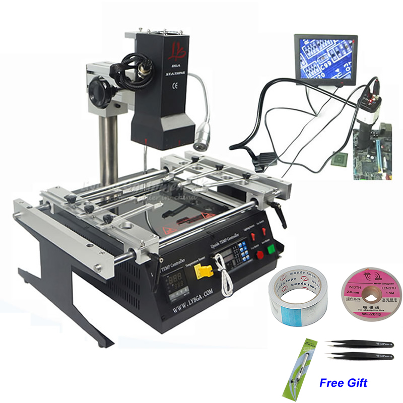 LY IR6500 V.2 Infrarouge BGA Station de Reprise Rebillage Machine avec Système de Caméra CCD pour les Cartes Mères Réparation