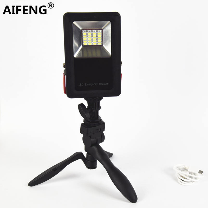 AIFENG 2400LM rechargeable led floodlight portable spotlight power by 18650 battery Flood Spot Work Light Outdoor Camping Lamps rechargeable floodlight 20w 36 led lamp portable 2400lm spotlight flood spot work light for outdoor camping lamps with charger