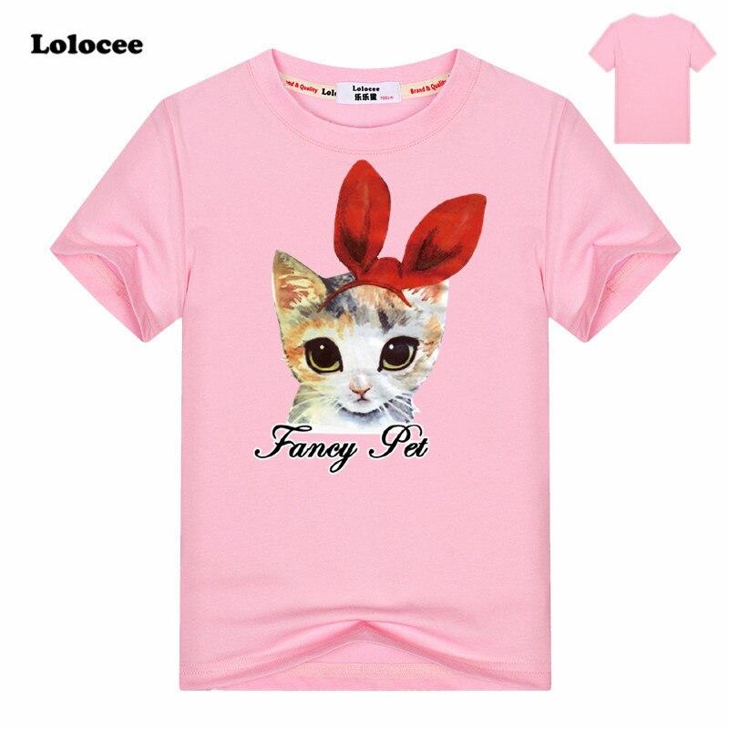 Clothing Tops Short-Sleeve T-Shirts Print Girl Baby Cotton Kids Fashion Summer Children