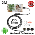 2M Android OTG USB Endoscope Camera 7mm lens IP67 Waterproof Snake Tube inspection Android Phone PC USB Dection Borescope Camera