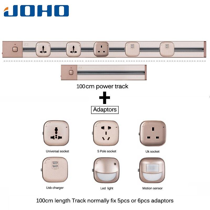 Joho socketbar quente 4000 w 100cm alumínio tomada usb stopcontact universal 2 portas usb escritório sala de estar